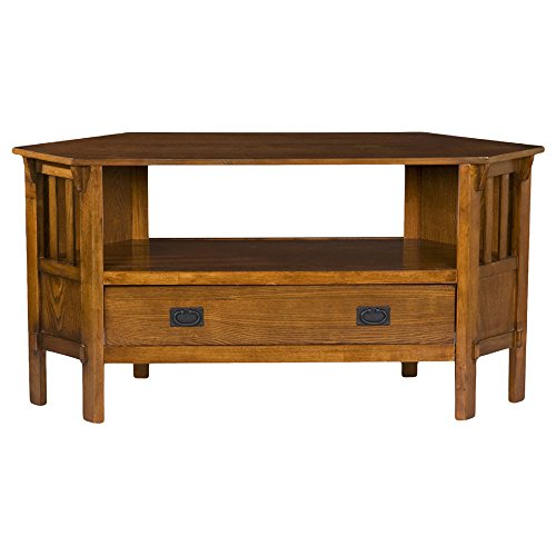 Mission Style Oak Corner Tv And Media Stand