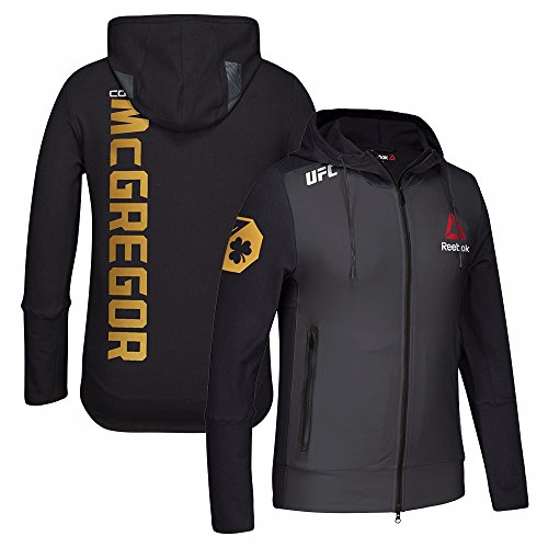 (Reebok Conor McGregor UFC Black Limited Edition Champion Walkout Hoodie for Men (Black, XX-Large))
