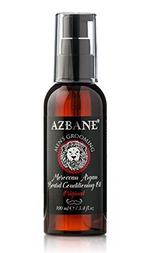 Azbane Moroccan Argan Beard Conditioning Oil - Original 100 Ml E / 3.4 Fl.oz