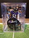 Baltimore Ravens NFL Helmet Shadowbox w/Ray Lewis