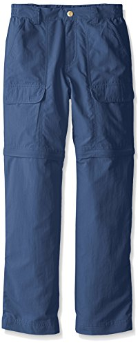 (White Sierra Youth Trail Convertible Pants, Vintage Indigo, Medium)