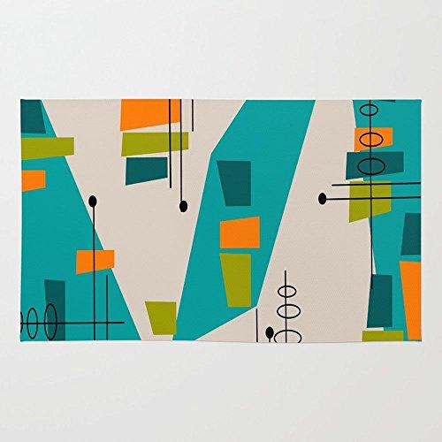Society6 Mid-Century Modern Abstract Rug 41VHol6 RGL