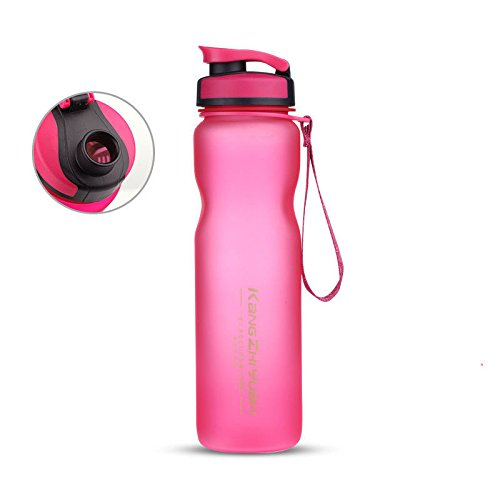 Rose Halloween Plastic Water Bottle Frosted Drinking Cup For Camping Bike 1000Ml by Travel Mugs