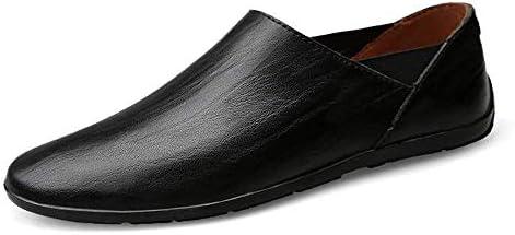 HhGold Mocasines para Hombre Zapatos, Minimalismo para Hombre Mocasines sin Cordones PU Cuero Moda Conducción Mocasines para Barcos Mocasines (Color: Negro, ...