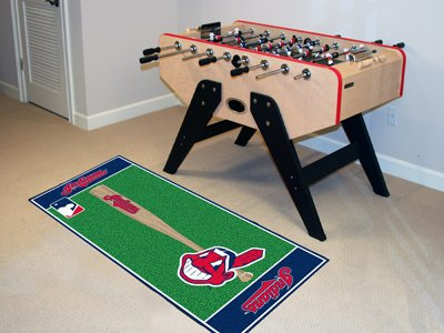 FANMATS MLB Cleveland Indians Nylon Face Football Field Runner