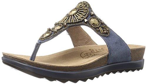 Dansko Women's Pamela Flip Flop, Blue Jeweled Suede, 41 EU/10.5-11 M US Leather Jeweled Sandals