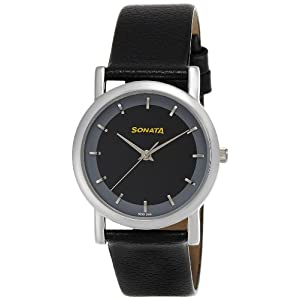 Sonata Analog Black Dial Men's Watch -NJ7987SL02W