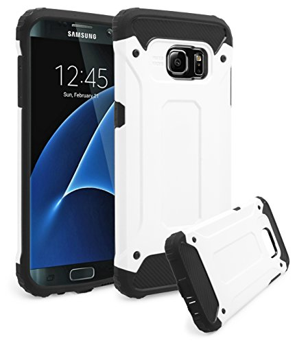 Shockproof Armor Case for Samsung Galaxy S7 Edge (White) - 5