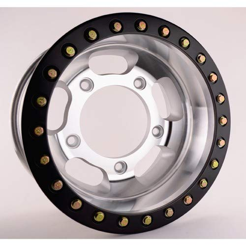Appletree Automotive 15 X 12 Forged Beadlock Rim, 5 On 205mm, Black Beadlock Compatible with VW & Dune Buggy ()