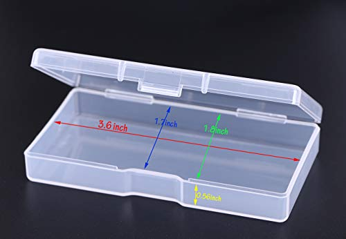 Mini Skater 3.52 ×1.8 ×0.55 Inch High Transparency Visible Plastic Box Small Size Clear Storage Case with Lid Use for Organizing Small Parts,Cotton Swab,Ornaments (8 Pcs)