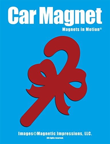 Candy Cane Car Magnet (Red)