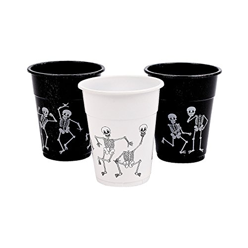 Halloween Skeleton Printed Disposable Cups Pack of 50