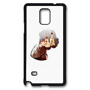 Custom Samsung Galaxy note 4 Case,Abstract woman in the brain as TPU Black Samsung Galaxy note 4 Cases