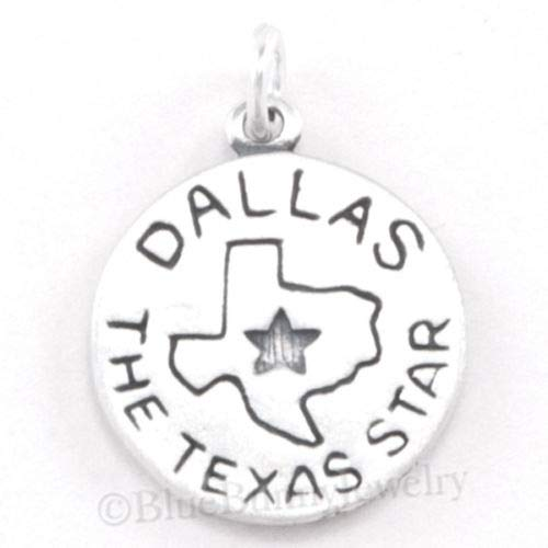 (OutletBestSelling Beads Bracelet Texas Star Charm Dallas Pendant Travel Skyline Sterling Silver 2 Sided)