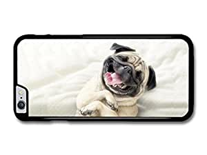 """AMAF ? Accessories Cute & Funny Pug Smiling case for iPhone 6 Plus (5.5"""")"""