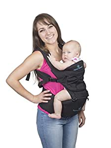 Brighter Elements Baby Carrier with Hip Seat and Hoodie, 5-in-1 Backpack & Kangaroo, Adjustable Waistband, Comfortable & Safe for Newborn & Toddlers, Great Gift for Showers & Holidays!