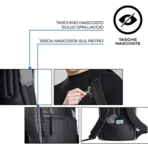 XD Design Bobby Urban Mochila Antirrobo y a Prueba de Cortes Gris (Bolsa Viaje): Amazon.es: Equipaje
