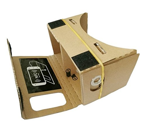 "DIY Google Cardboad Kit, Magicoo 3D VR Video Glasses, VR Headset for Movies and Games, Compatible with All the 3.5""-6.0"" Smartphones (Gold)"