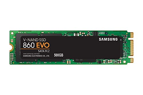Rock Power Pro B8 - Samsung SSD 860 EVO 500GB M.2 SATA Internal SSD (MZ-N6E500BW)