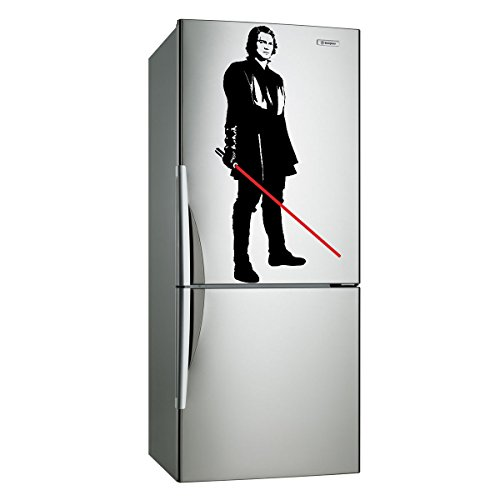 (12'' x 24'') Star Wars Vinyl Wall Decal / Anakin Skywalker with Lightsaber Die Cut / Young Darth Vader Art Decor Self Adhesive Sticker + Free Decal Gift!
