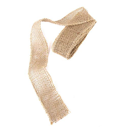 XeminorDIY Natural Jute Burlap Fabric Jute Roll Craft Burlap Ribbon for DIY Handmade Wedding Party Crafts Use 1 Roll 3M by Xeminor (Image #6)