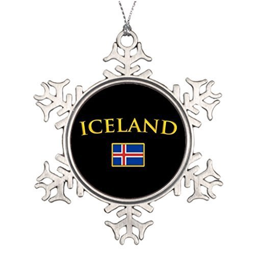 (Acove Metal Ornaments Golden Iceland Xmas Trees Decorated Snowflake Ornaments)