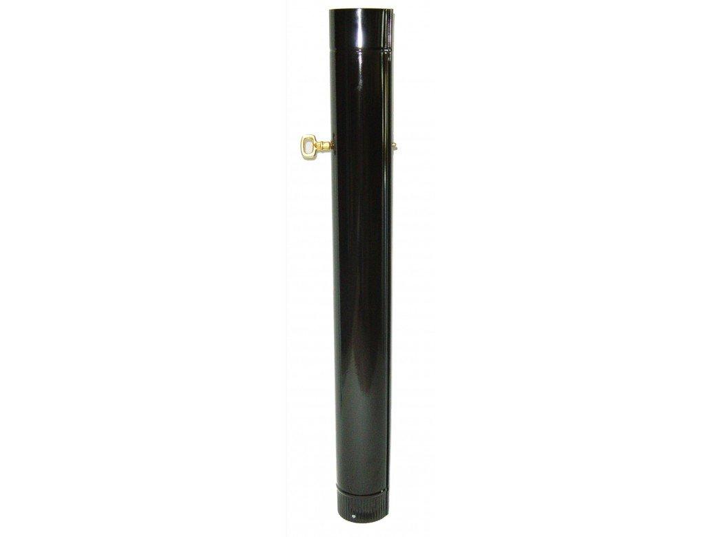 WOLFPACK 22011020 - Tubo Estufa Negro Vitrificado De 120Mm Con Llave De 25Cm: Amazon.es: Bricolaje y herramientas