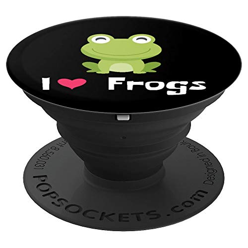 I HEART FROGS - AMPHIBIANS NEED LOVE TOO - PopSockets Grip and Stand for Phones and Tablets