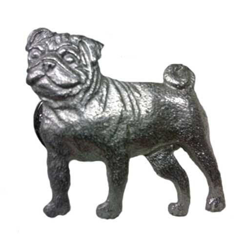 PUG Dog Pet Fine Pewter Pin USA Made (Pewter Fine Pins)