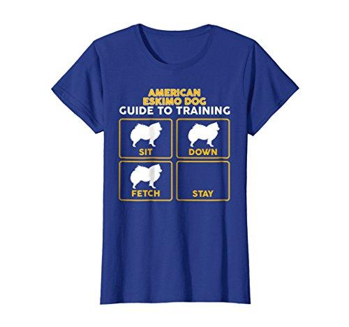 Womens Eskimo Dog T-Shirt | Funny Guide To Training XL Royal Blue