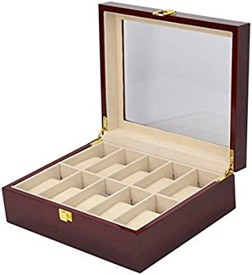 BAOLH Joyería de madera del organizador del almacenaje, la caja ...