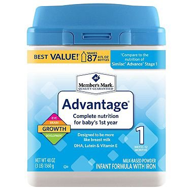 Member's Mark Infant Formula, Advantage (48 oz.)