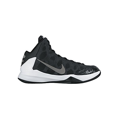 Nike Men's Zoom Without A Doubt Black/Mtllc Slvr/Flt - Nike Basketball Sneakers Black