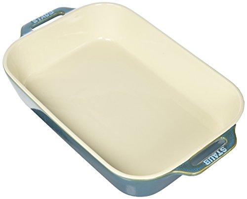 (Staub 40511-890 Ceramics Rectangular Baking Dish, 13x9-inch, Rustic Turquoise)