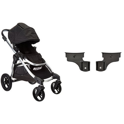 Baby Jogger 2016 City Select Single Stroller - Onyx & Baby Jogger 2016 Car Seat Adapter-Select/Premier- Britax/BOB