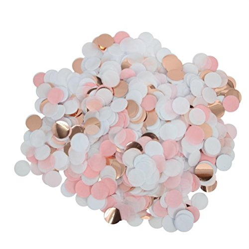 Mybbshower Rose Gold Pink Confetti Wedding Table Scatter Bridal Shower Engagement Birthday Party Decorations 1 Inch Pack of 3 oz