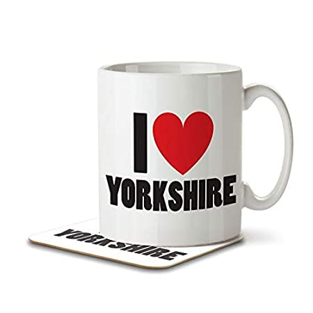 I Love Yorkshire – Mug and Coaster by Inky Penguin 41VHwOUXW5L