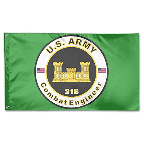 YhouqukehTshirt Army MOS 21B Combat Engineer Home Flags 3 X 5 in Indoor&Outdoor Decorative Home Fall Flags Holiday Decor ()