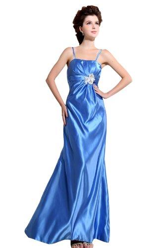 Heyivogue Lady Spaghetti Strap Empire Appliques Maxi Formal Cocktail Dress 3209 8 Blue