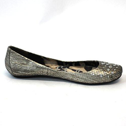 aspecto leather con Sam studs de Ballerinas Metal de Edelman disco serpiente piel PqO50w