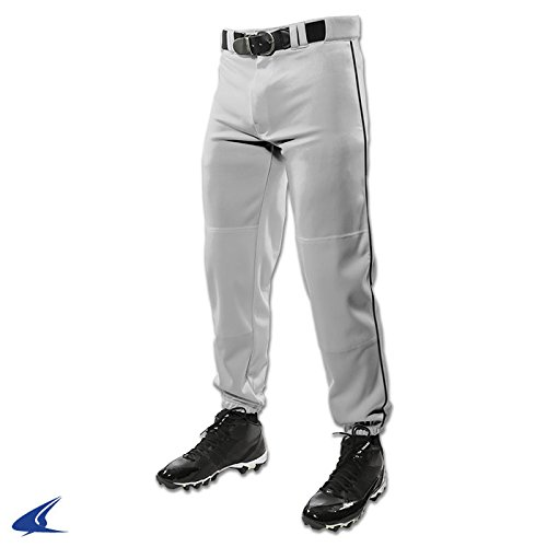 Champro Youth Triple Crown Dugout Baseball Pant with Braid B01I0J5YCG Small|グレー/ブラック グレー/ブラック Small