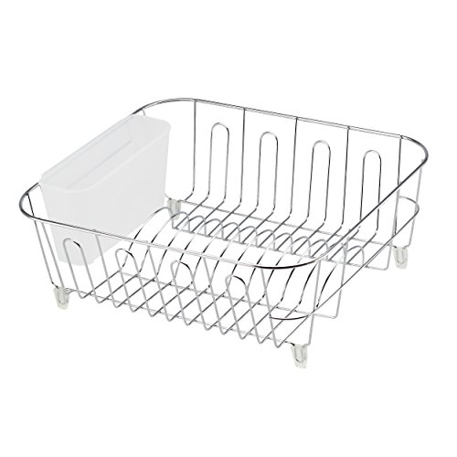 - REAL HOME Innovations 12.5 by 14.25 by 5.25-Inch Dish Drainer, Small, Chrome