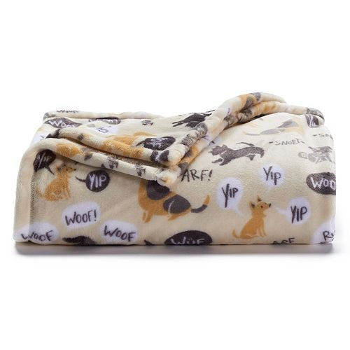 Price comparison product image The Big One Super Soft Plush Throw, Dogs - Yip, 60 x 72