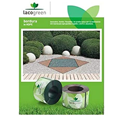 Lacogreen Kit Bordura Verde 10 m 1, 5 Decoración Jardín Duttil Flexible: Amazon.es: Jardín