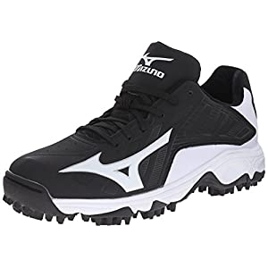 Mizuno Men's 9 Spike Advanced Erupt 3 Softball Cleat, Black/White, 12 M US