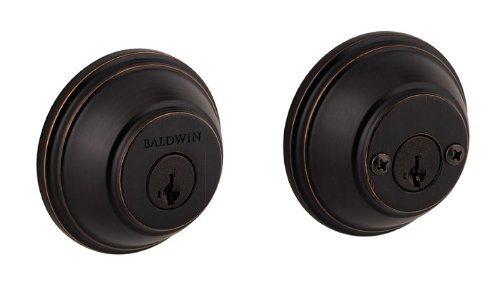 Baldwin 385 RDB 11P SMT CP RCAL 385 Double Cylinder Round Deadbolt Featuring SmartKey, Venetian Bronze by Baldwin by Baldwin