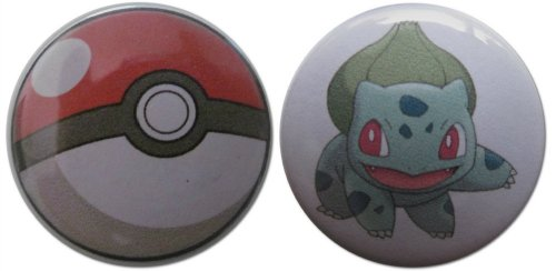 Bulbasaur & Pokéball (From Pokémon) 1.25 Inch Magnet Set (Jessie From Team Rocket)
