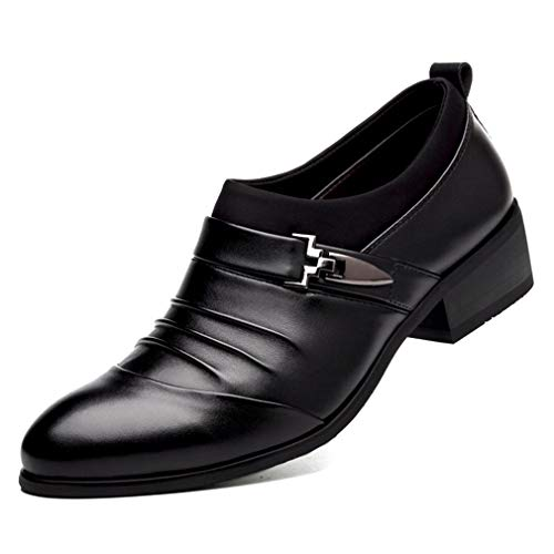Mens Oxford Shoes Pointed Toe Breathable Business Fashion Dress ()
