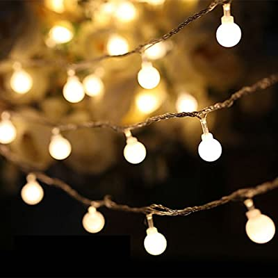 Globe String Lights, Decornova 13 feet 30 LEDs IP44 Waterproof 8 Modes Outdoor LED Fairy String Lights with 3AA Battery Box and Remote Controller, Warm White