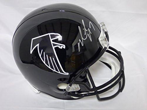 79ffc334a79 Autographed Michael Vick Helmet - Full Size Rep - JSA Certified -  Autographed NFL Helmets. Loading Images.